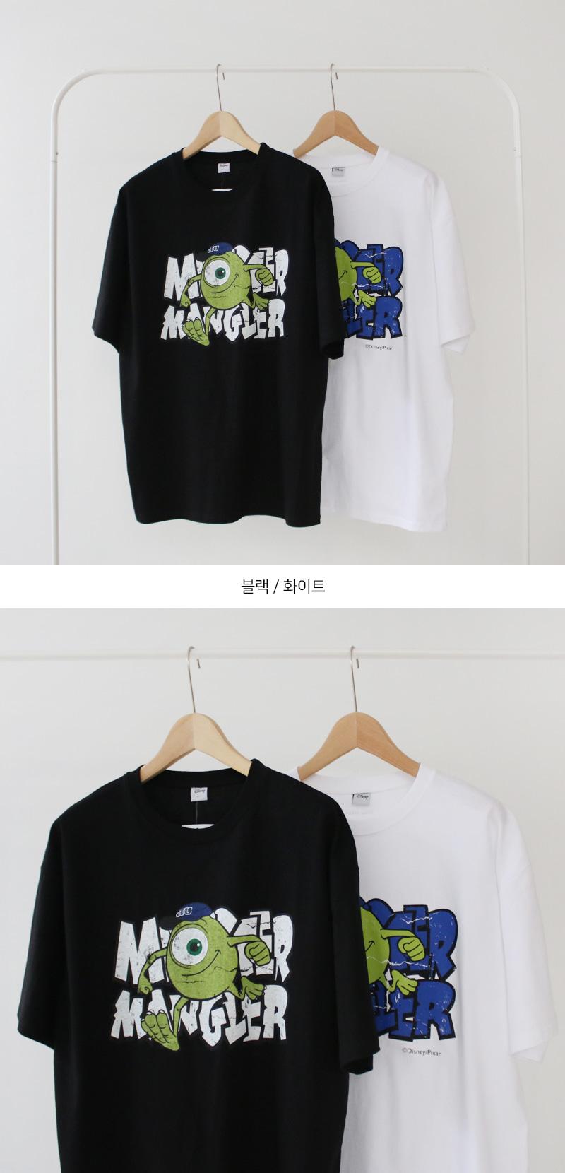 KOREALINE搖滾星球 / 怪獸電力公司麥可大眼仔印刷短T / 2色 / MT7197